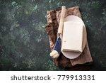 fresh butter and knife on... | Shutterstock . vector #779913331