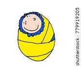 funny doodle child. boy. cartoon | Shutterstock .eps vector #779919205
