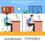 young man demonstrating correct ... | Shutterstock . vector #779919871