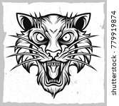 tiger black and white vector   Shutterstock .eps vector #779919874