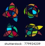 Cubism Art Picture Logos Set ...
