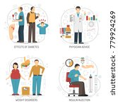 diabetes 2x2 design concept set ...   Shutterstock . vector #779924269