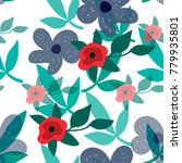 exquisite floral seamless... | Shutterstock .eps vector #779935801
