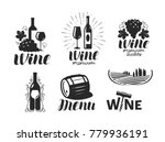 wine  winery logo. drink ... | Shutterstock .eps vector #779936191