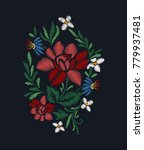 embroidery for fashion | Shutterstock .eps vector #779937481