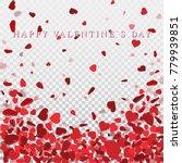 heart confetti of valentines... | Shutterstock .eps vector #779939851