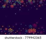 red and blue snow flakes...   Shutterstock .eps vector #779942365