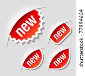 new labels. vector. | Shutterstock .eps vector #77994634