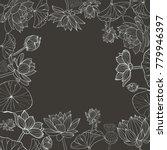 vector monochrome hand drawn... | Shutterstock .eps vector #779946397