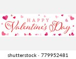 happy valentines day wide... | Shutterstock .eps vector #779952481