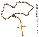 catholic rosary beads with a... | Shutterstock .eps vector #779965255