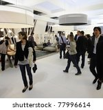 milan   april 13  people visit... | Shutterstock . vector #77996614