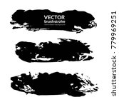 textured brush long big strokes ... | Shutterstock .eps vector #779969251