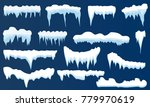 set of snow icicles  snow cap... | Shutterstock .eps vector #779970619