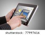 businessman searching a tourism ... | Shutterstock . vector #77997616