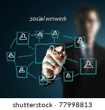 drawing social network... | Shutterstock . vector #77998813
