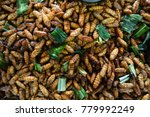 fried snacks silkworm pupa... | Shutterstock . vector #779992249