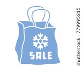 shopping bag with a snowflake ... | Shutterstock .eps vector #779995315