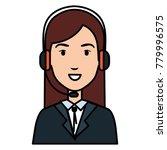 call center agent avatar... | Shutterstock .eps vector #779996575