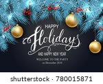 holidays greeting card for... | Shutterstock .eps vector #780015871