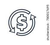 money transfer icon. isolated...