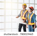 construction manager and...   Shutterstock . vector #780019465