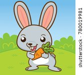 rabbit are carrying carrot ... | Shutterstock .eps vector #780019981