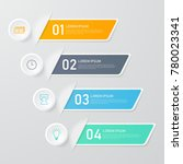 infographics template for... | Shutterstock .eps vector #780023341