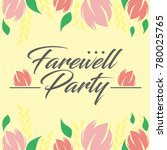 farewell party illustration... | Shutterstock .eps vector #780025765