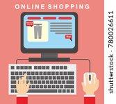online shopping illustration... | Shutterstock .eps vector #780026611