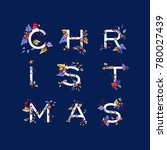 merry christmas typography... | Shutterstock .eps vector #780027439