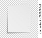 realistic vertical white sheet... | Shutterstock .eps vector #780030244