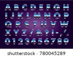 retro 80's type | Shutterstock .eps vector #780045289