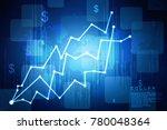 2d rendering stock market... | Shutterstock . vector #780048364