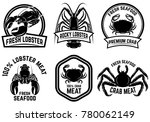 set of crab meat  lobster meat... | Shutterstock .eps vector #780062149