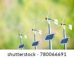 wind turbine wind turbine on...   Shutterstock . vector #780066691