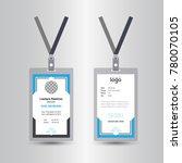 creative simple blue id card... | Shutterstock .eps vector #780070105