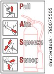 how to use a fire extinguisher... | Shutterstock .eps vector #780075505