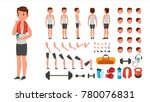 fitness man vector. animated... | Shutterstock .eps vector #780076831