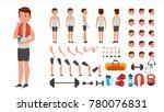 fitness man vector. animated... | Shutterstock .eps vector #780076831