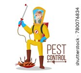 anti germs vector. exterminator.... | Shutterstock .eps vector #780076834