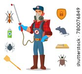 pest control vector. prevention ... | Shutterstock .eps vector #780076849