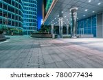 empty brick road nearby office... | Shutterstock . vector #780077434