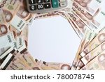 pile of thai baht money and... | Shutterstock . vector #780078745
