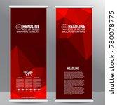 red roll up business brochure...   Shutterstock .eps vector #780078775