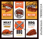 meat dishes vertical banners... | Shutterstock . vector #780082114