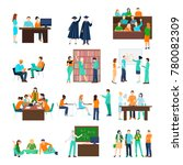 higher education person set of... | Shutterstock . vector #780082309