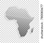 african continent transparent... | Shutterstock . vector #780083677