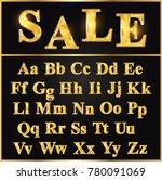 sale alphabet  alphabet a z ... | Shutterstock .eps vector #780091069