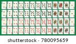 full deck  all in one set  in... | Shutterstock .eps vector #780095659